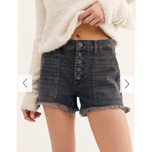 Free People Black cutoffs Jesse Carpenter Short